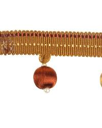 Orange Beaded Trim  02028 Copper