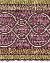 Purple Fabric Trim Border  02108 Hydrangia
