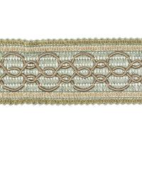 Green Fabric Trim Border  02108 Robins Egg