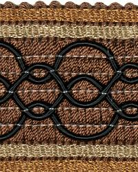 Brown Fabric Trim Border  02108 Cocoa