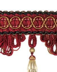 Red Beaded Trim  02110 Berry