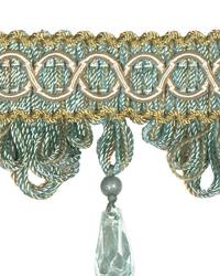 Green Beaded Trim  02110 Robins Egg
