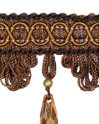 Brown Beaded Trim  02110 Cocoa