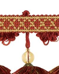 Red Beaded Trim  02111 Cardinal