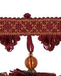 Red Beaded Trim  02111 Berry