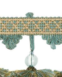 Green Beaded Trim  02111 Robins Egg