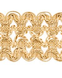 Gold Fabric Trim Border  02119 Antique