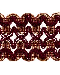 Red Fabric Trim Border  02119 Cabernet