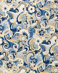 Blue Classic Paisley Fabric  02521 Cornflower