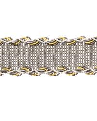 Grey Fabric Trim Border  02496 Citrine