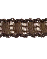 Brown Fabric Trim Border  02496 Espresso