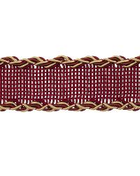 Gold Fabric Trim Border  02496 Crimson