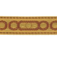 Orange Fabric Trim Border  02657 Clay