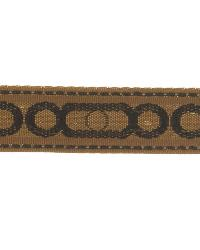 Black Fabric Trim Border  02657 Black Coffee