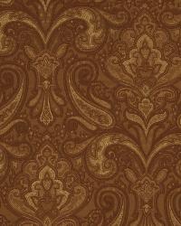 Orange Classic Paisley Fabric  02757 Persimmon