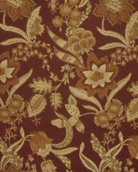 Red Jacobean Fabrics  02763 Garnet