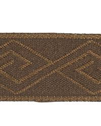 Brown Fabric Trim Border  02867 Chocolate