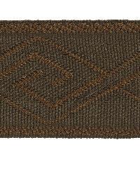 Brown Fabric Trim Border  02867 Cocoa