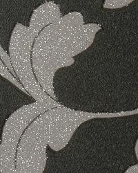 Tussore Charcoal Silver by  Thybony Wallcoverings