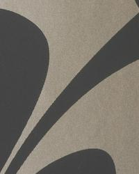 Rhythm Charcoal Gold by  Thybony Wallcoverings