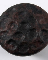 Hammered Metal Rosette Russet by