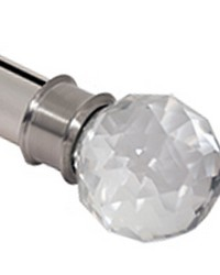 Crystal Finial Steel by