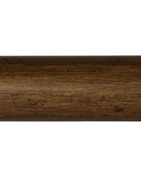 4 Ft Smooth Wood Pole Dark Walnut by