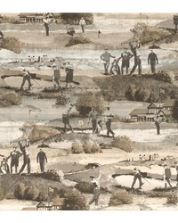 Menswear The Old Course Removable Wallpaper by  Carey Lind