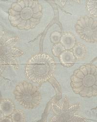 Blue Modern Floral Fabrics  Kiki Gulf