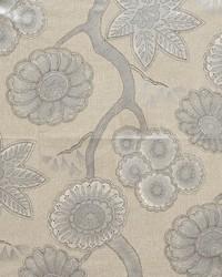 Grey Modern Floral Fabrics  Kiki Sparkle