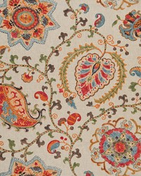 Multi Jacobean Floral Fabric  Jenci Multi