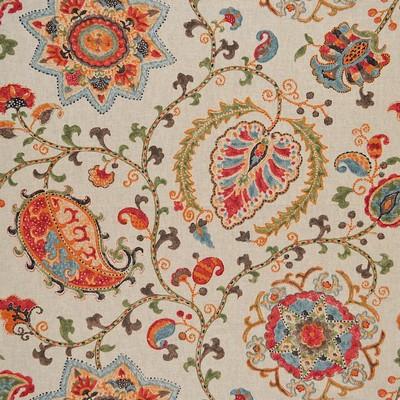 Magnolia Fabrics  Jenci MULTI Jacobean Floral Fabric