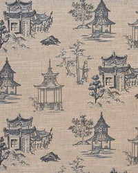 Blue Oriental Fabric  Jerryl Blue
