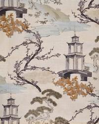 Beige Oriental Fabric  Ippsie Eggshell