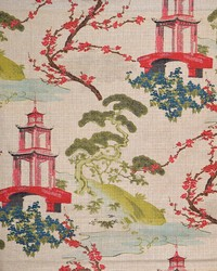 Red Oriental Fabric  Ippsie Traditional