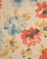 Red Modern Floral Fabrics  Jarvah Henna