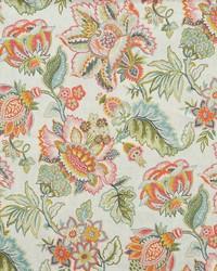 Multi Jacobean Floral Fabric  Obolen Spring