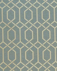 Blue Trellis Diamond Fabric  Hotaka Blue