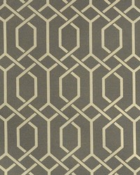Grey Trellis Diamond Fabric  Hotaka Gray