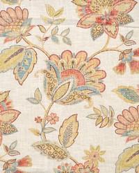 Multi Jacobean Floral Fabric  Layton Multi