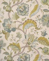 Green Jacobean Fabrics  Lipman Seaside