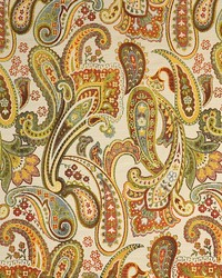 Multi Classic Paisley Fabric  Morton Multi