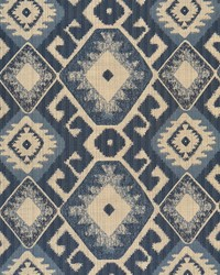Blue Navajo Print Fabric  Portico Denim