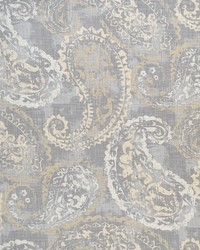 Grey Classic Paisley Fabric  Quaker Dove