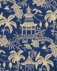 Blue Oriental Fabric  Rickman Ink