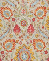 Multi Jacobean Floral Fabric  Sadie Skittles