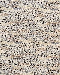 Grey Circles and Swirls Fabric  Yodel Gravel