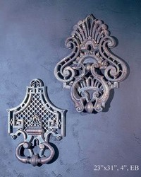 French Door Knockers A B 2pc by