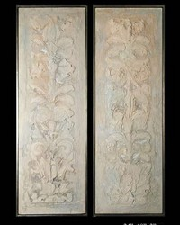 Exhibition Framed Florentine Frescos 2pc by