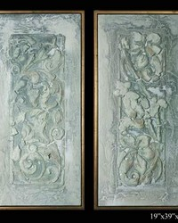 Exhibition Framed Bolognan Fresco 2pc by